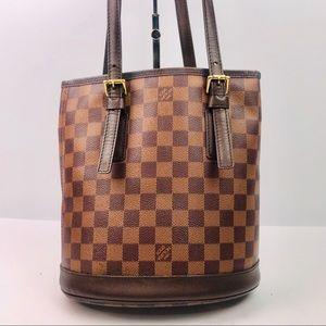 Authentic Louis Vuitton Damier Ebene Bucket PM Bag